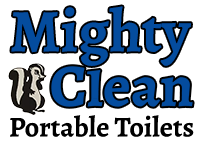 mighty clean portable toilets logo